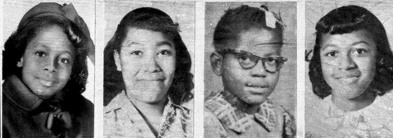 Denise McNair, 11; Carole Robertson, 14; Addie Mae Collins, 14; and Cynthia Wesley, 14; from left, are shown in these 1963 photos. (AP)
