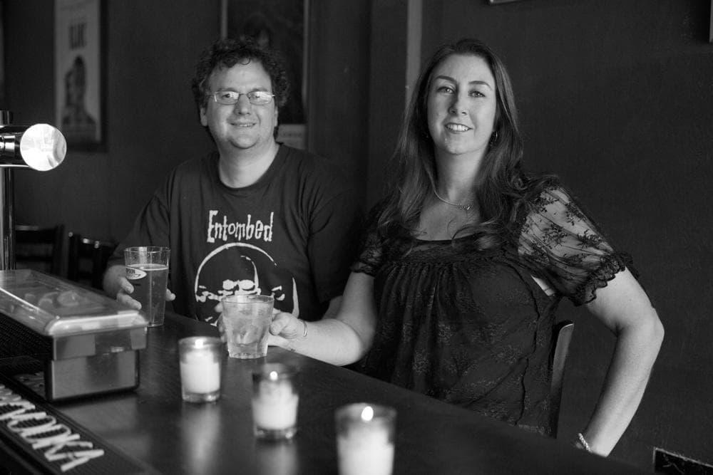 "Jon Wiederhorn and Katherine Turman, authors of ""Louder Than Hell."" (Greg Cristman/HarperCollins)"