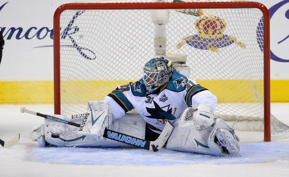 San Jose goalie Antti Niemi will need to stop a lot more shots for the Sharks to advance past the L.A. Kings. (Mark J. Terrill/AP)