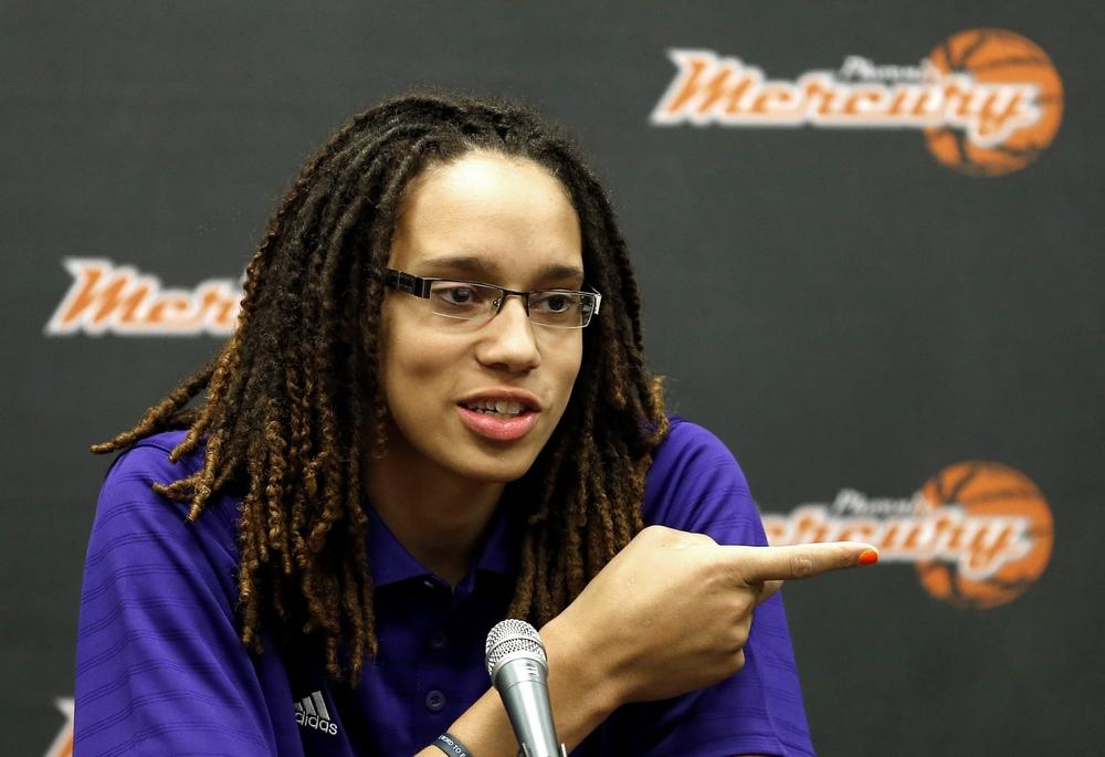Brittney Griner came out after leaving Baylor where she had been told to downplay her sexual orientation. (Matt York/AP)