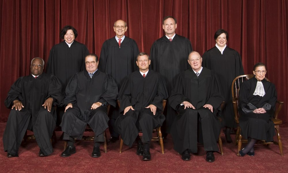The justices of the U.S. Supreme Court pose for an official photo. (U.S. Supreme Court)