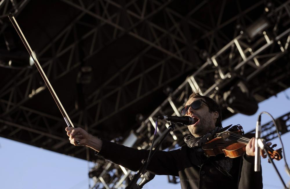 Andrew Bird performs during the first weekend of the 2012 Coachella Valley Music and Arts Festival, Saturday, April 14, 2012, in Indio, Calif. (Chris Pizzello/AP)