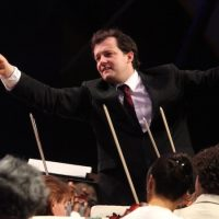Andris Nelsons conducts the Boston Symphony Orchestra at Tanglewood last summer. (Hilary Scott)