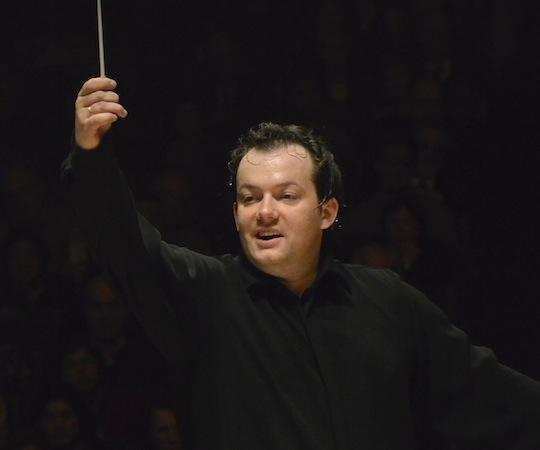 Andris Nelsons leads the BSO. (Stu Rosner)
