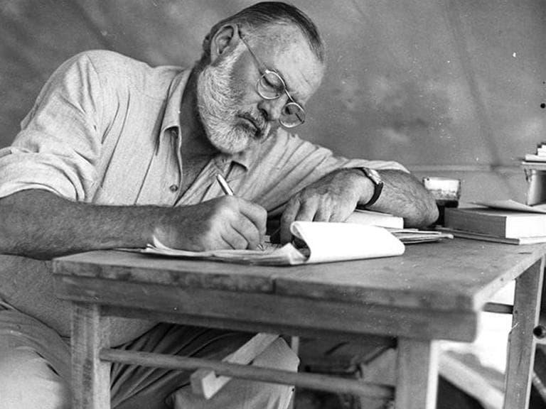 Writer Ernest Hemingway in Cuba.