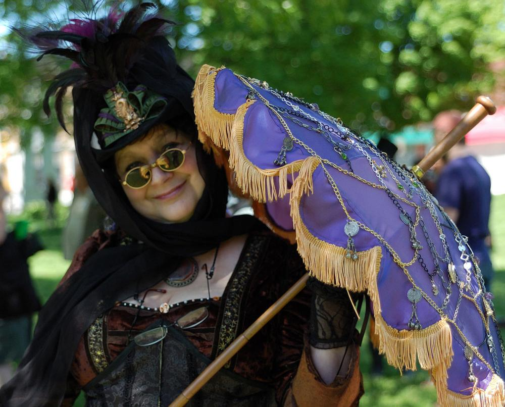 High steampunk fashion at the Watch City Festival in Waltham. (Courtesy of the Charles River Museum of Industry & Innovation)
