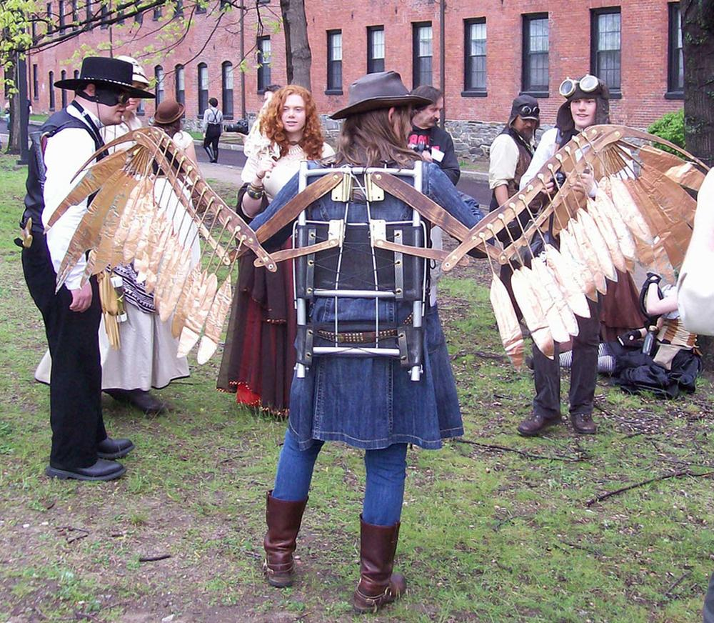 Steampunks at the Watch City Festival in Waltham. (Courtesy of the Charles River Museum of Industry & Innovation)