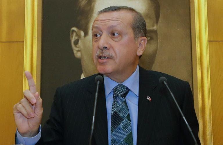 Turkey's Prime Minister, Recep Tayyip Erdogan, speaks to the media in Istanbul, Turkey, Monday, June 3, 2013. (AP)