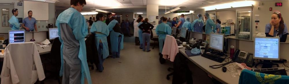 CLICK TO ENLARGE: Mass. General's emergency department at 4:15 p.m. on 4/15. (Dr. John Herman/MGH)