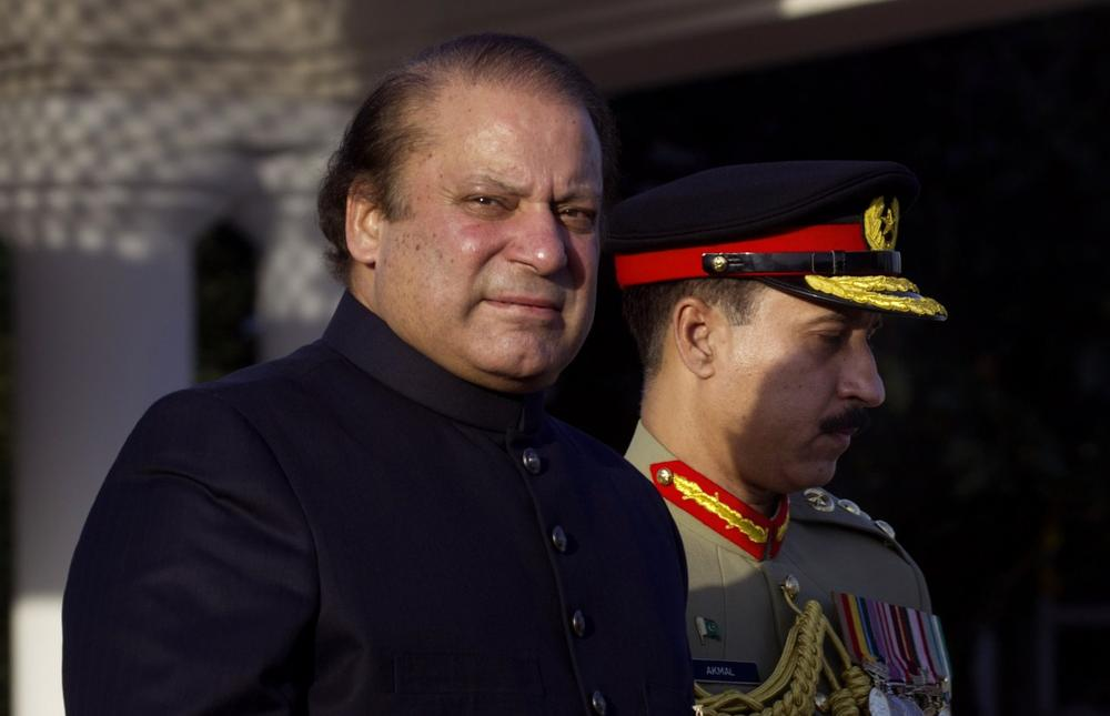 Newly elected Prime Minister of Pakistan Nawaz Sharif, left, is pictured in Islamabad, Pakistan, Wednesday, June 5, 2013. (B.K. Banagsh/AP)