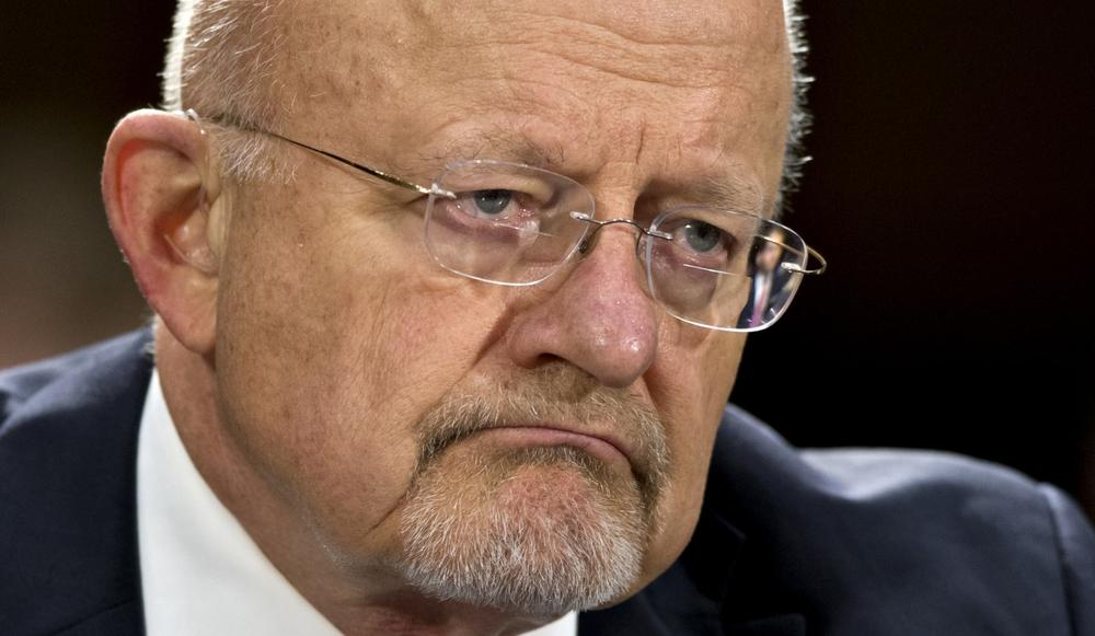 National Intelligence Director James R. Clapper is pictured May 2, 2013, on Capitol Hill in Washington. (J. Scott Applewhite/AP)