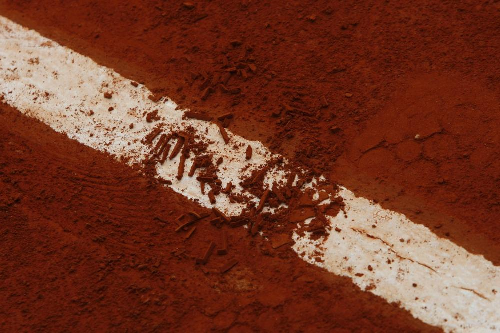 Adam Neff has a red clay court in his backyard that resembles those at the French Open. (Laurent Baheux/AP)