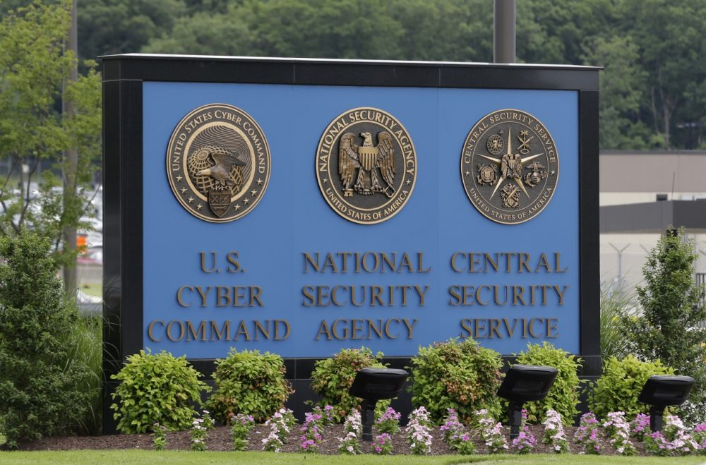 A sign stands outside the National Security Administration (NSA) campus on Thursday, June 6, 2013, in Fort Meade, Md. (Patrick Semansky/AP)