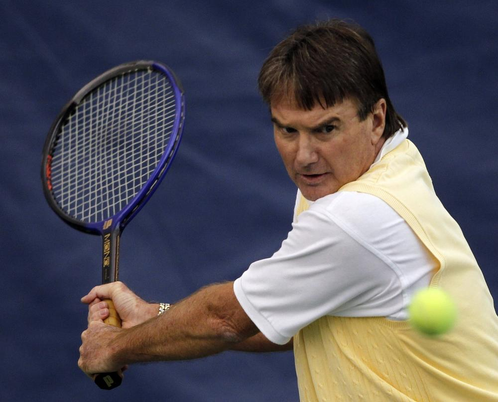 Jimmy Connors doesn't seem to have changed in old age. (Mike Groll/AP)