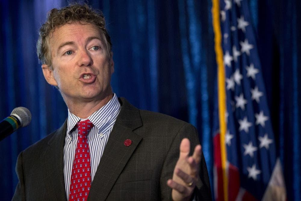 Sen. Rand Paul, R-Ky. gestures as he speaks in Washington, Wednesday, June 12, 2013. (Jacquelyn Martin/AP)