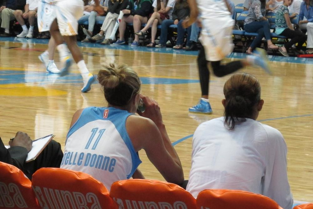 Delle Donne plays multiple positions, so breaks on the bench are rare. (Karen Given/Only A Game)
