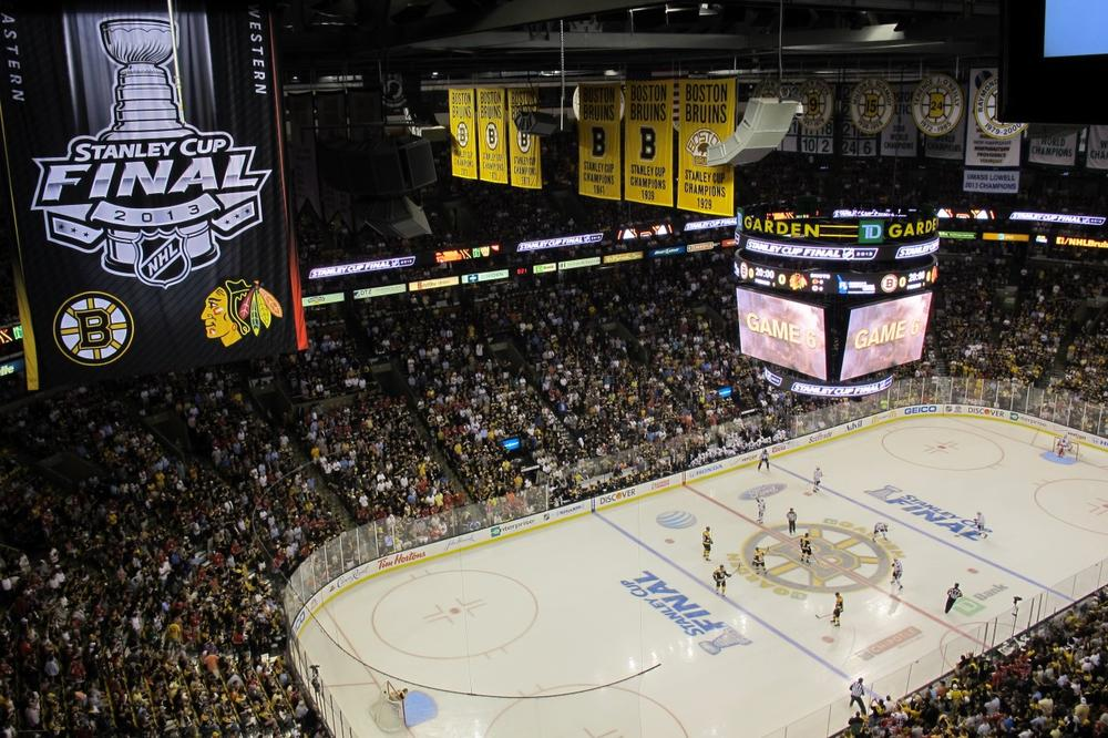 The pro-Bruins crowd at TD Garden wanted Boston to force Game 7, but the Blackhawks had other plans. (Doug Tribou/Only A Game)