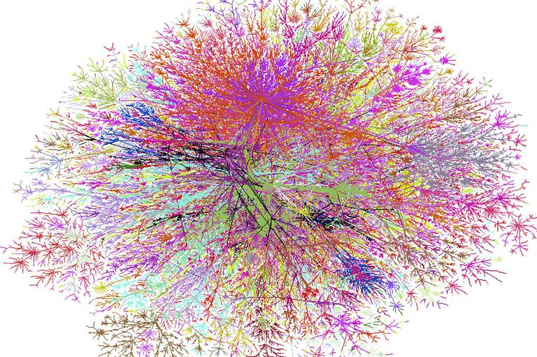 Internet Splat Map (Flickr/Steve Jurvetson)