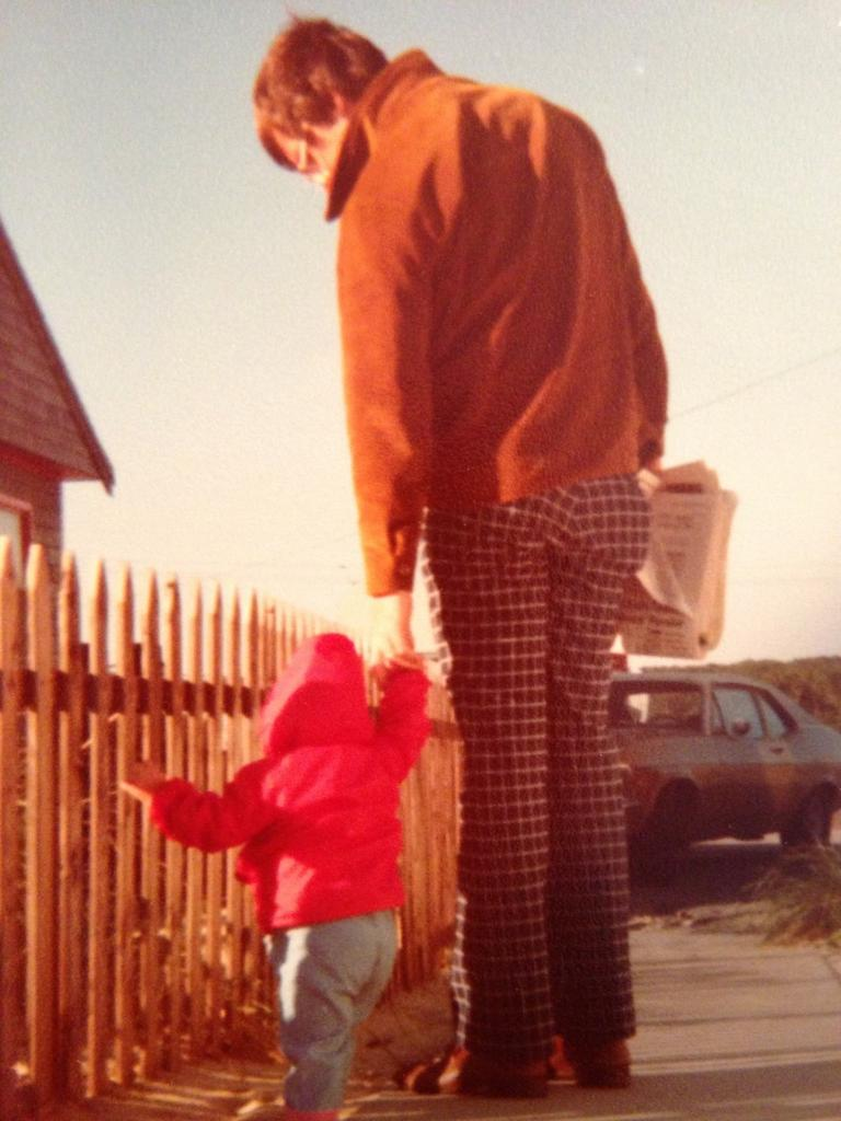 The author and her father, Cape Cod 1979. (Courtesy)