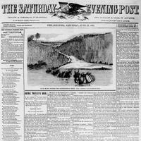 Front page of the Saturday Evening Post from June 1863. (Courtesy of the Saturday Evening Post)