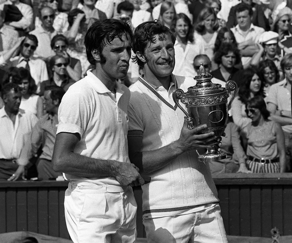 Jan Kodes, right, won Wimbledon in 1973, but his victory came against a watered down field. (Bob Dear/AP)
