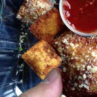 Toasted ravioli at Villa Farotto in St. Louis, Missouri. (Jeremy Hobson/Here & Now)