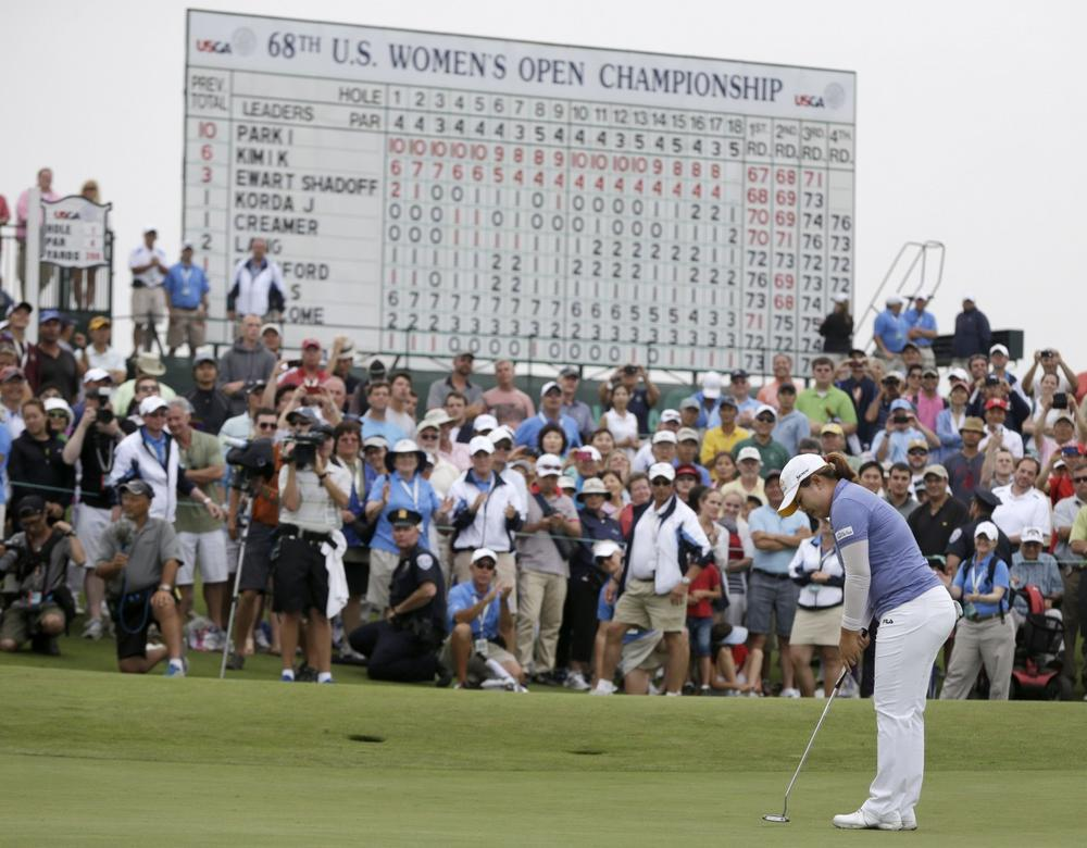 Inbee Park is the first woman since Babe Didrikson Zahariasto win the year'sfirst three majors. (Seth Wenig/AP)