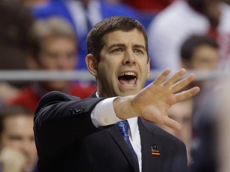 Butler's Brad Stevens coaches in a game in March. (John Bazemore/AP)