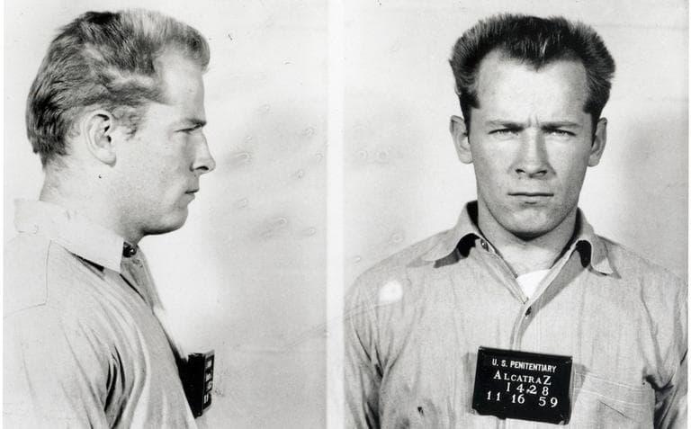 """James """"Whitey"""" Bulger's mug shot from Alcatraz, 1959."""