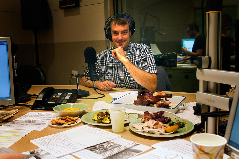 Chef and author Barton Seaver in the On Point studio. (Jesse Costa/WBUR)