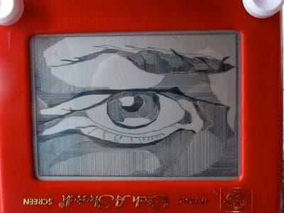 A piece by Etch A Sketch artist Andrea Tilden. (Andrea Tilden/Facebook)