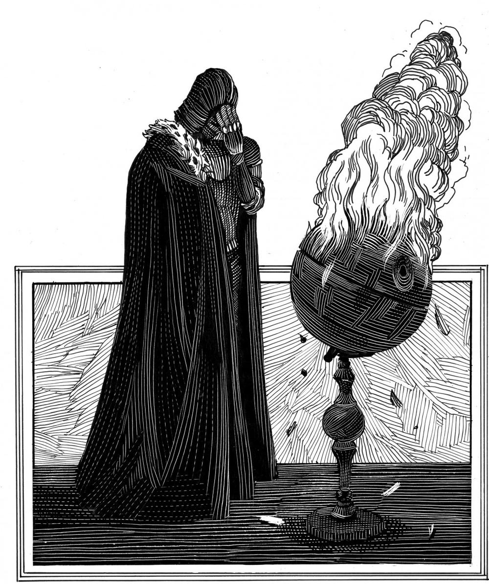 "Illustration from ""William Shakespeare's Star Wars."" (Quirk Books)"