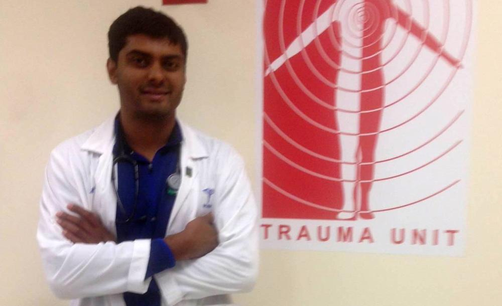 Bhavin Patel is a medical student at Cook County Hospital in Chicago. (Courtesy of Bhavin Patel)