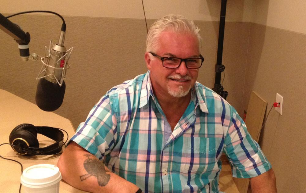 Stephen Davis is pictured in the Here & Now studios on July 16, 2013. (Here & Now)