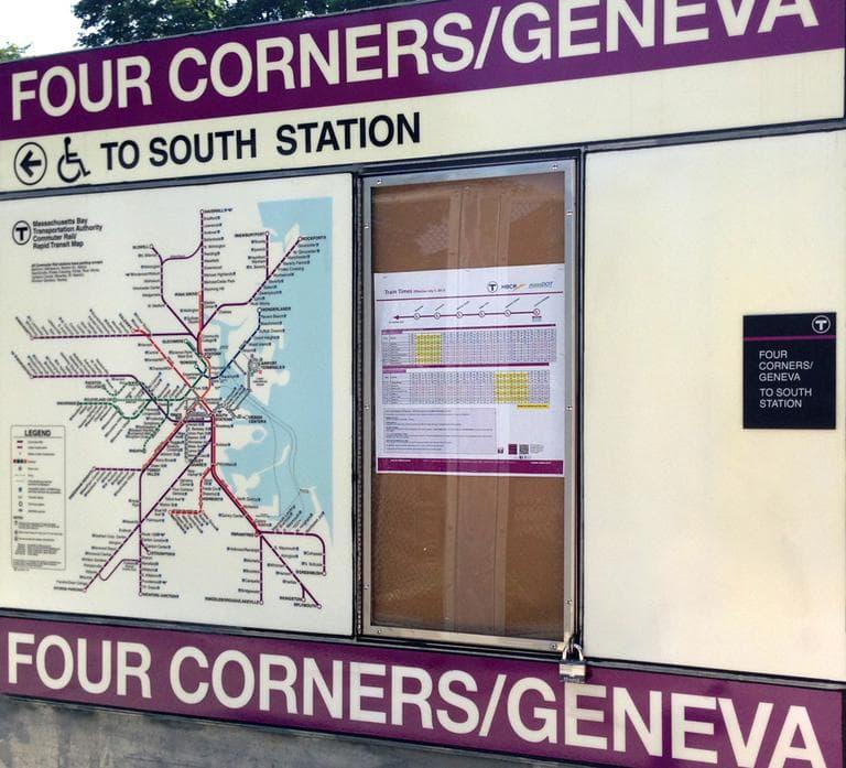 The new Four Corners/Geneva station is years in the making. (Bruce Gellerman/WBUR)