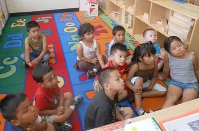 Kids in the Springfield Head Start's program for migratory children (Courtesy)