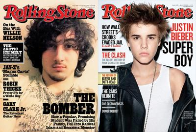 Dzhokhar Tsarnaev and Justin Bieber. (Rolling Stone)