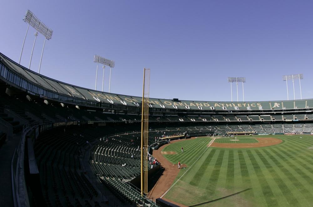 The Oakland A's want to leave the Coliseum, which doubles as a football stadium. (Eric Risberg/AP)