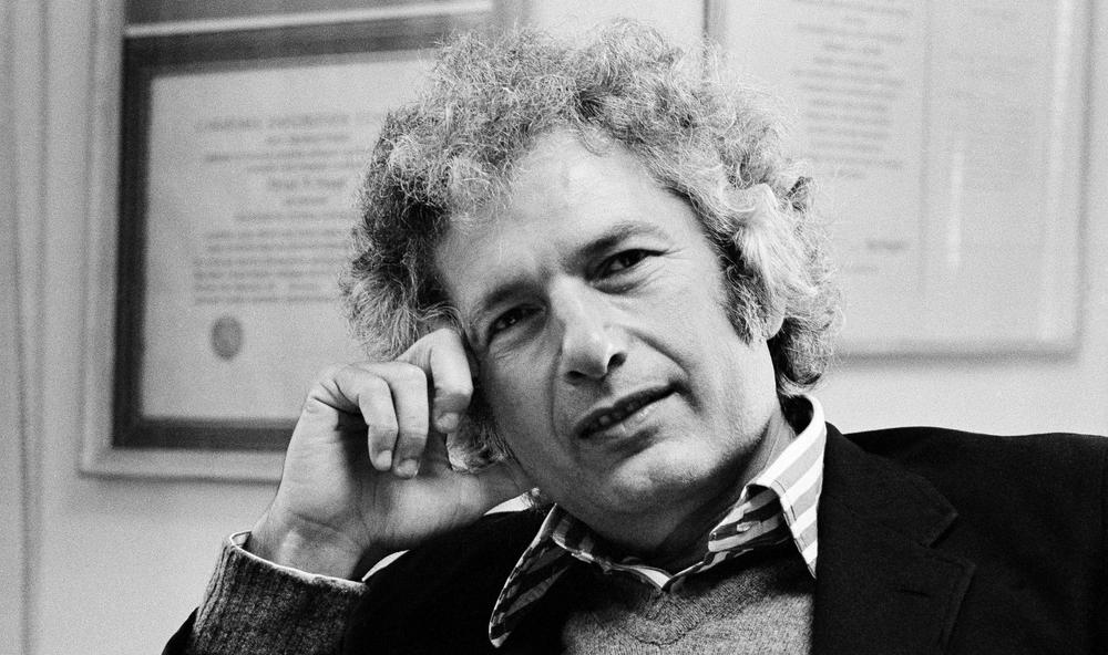 Author Joseph Heller in his publisher's office in New York City on October 9, 1974. (Jerry Mosey/AP)