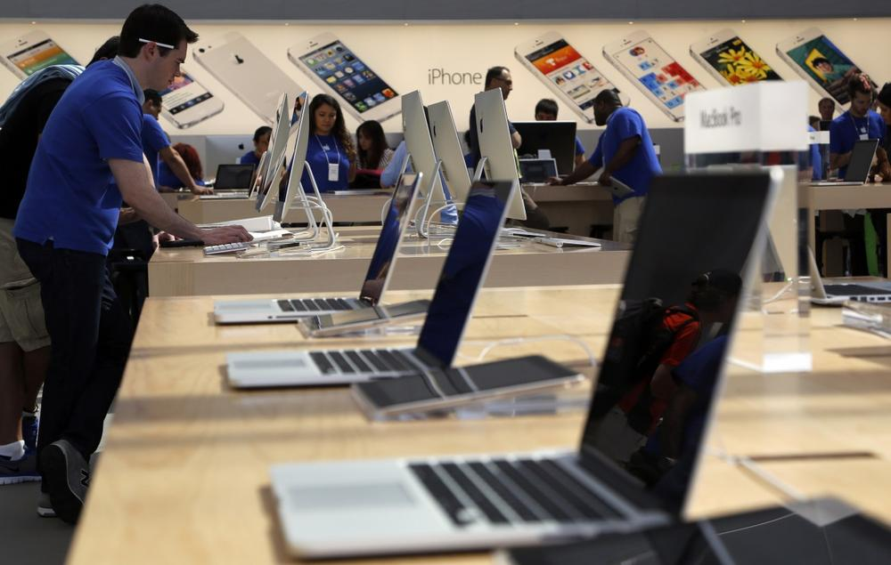 The Apple store in Santa Monica, Calif., is seen Thursday, May 9, 2013. (Reed Saxon/AP)