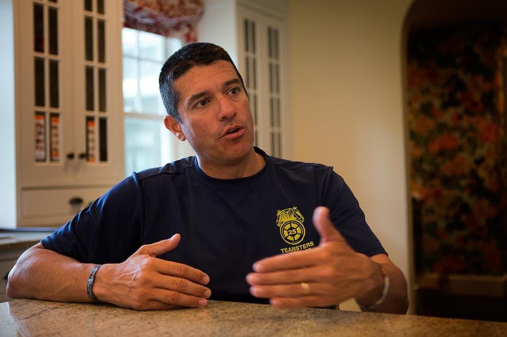 Former Republican U.S. Senate candidate Gabriel Gomez at his home in Cohasset (Jesse Costa/WBUR)