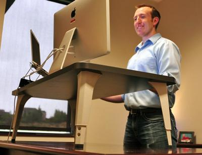 """(<a href=""""http://www.kickstarter.com/projects/mcpace/stand-up-desk-kit-the-easiest-way-to-stand-while-w"""" target=""""_blank"""">Pace McCulloch</a>)"""