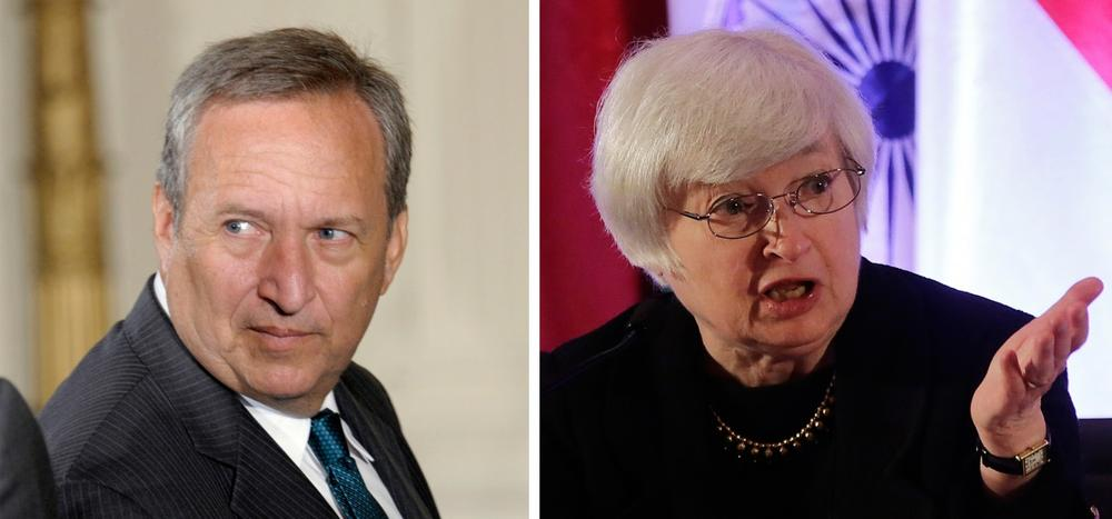 The two top contenders to head the Federal Reserve are Lawrence Summers (left) and Janet Yellen. (AP)