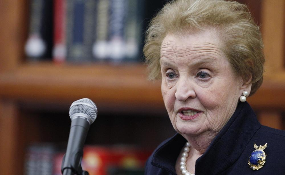 Former Secretary of State Madeleine Albright, is pictured April 10, 2012, in Chicago. (M. Spencer Green/AP)