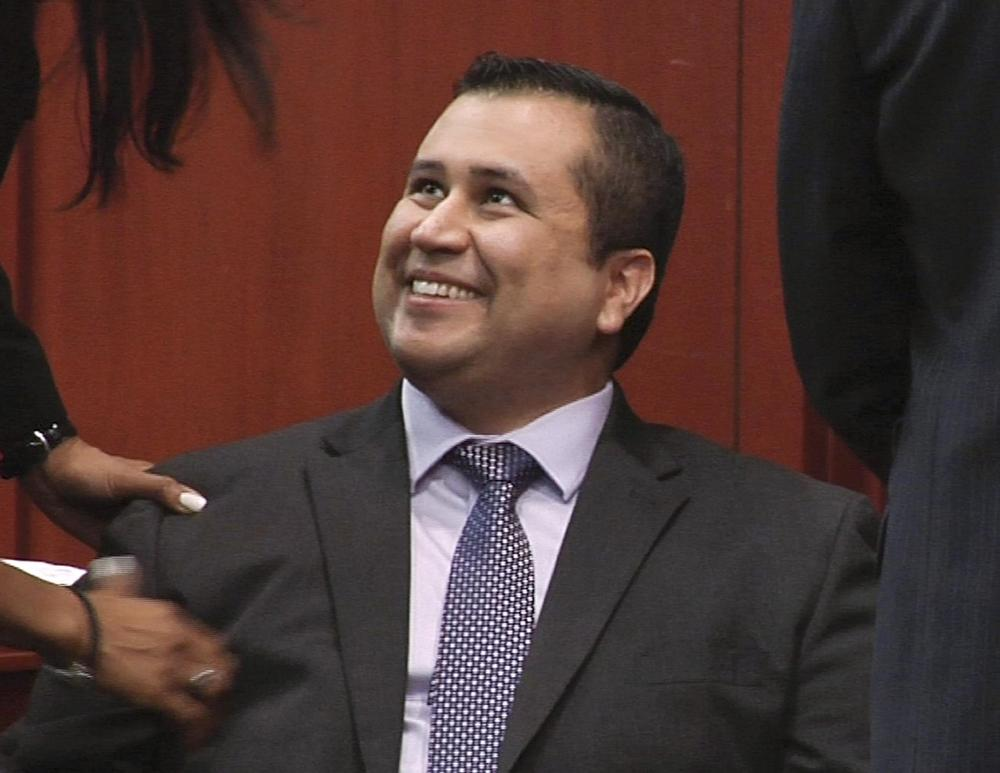 George Zimmerman smiles after a not guilty verdict was handed down in his trial. (AP)