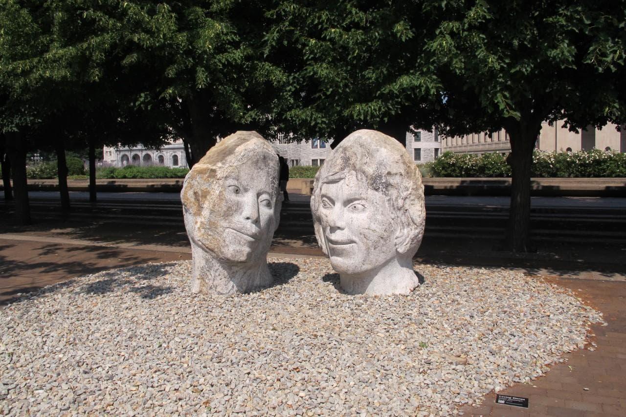 Boston Sculptors Gallery exhibit. (Amory Sivertson/WBUR)