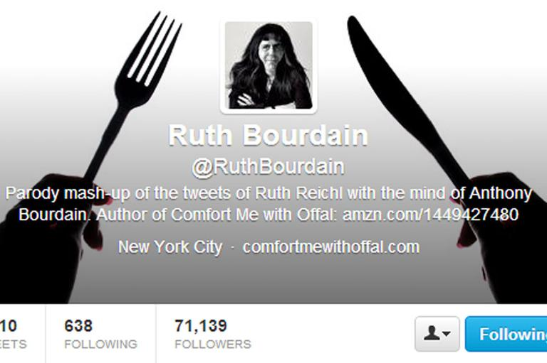 """Ruth Bourdain's"" Twitter Account"