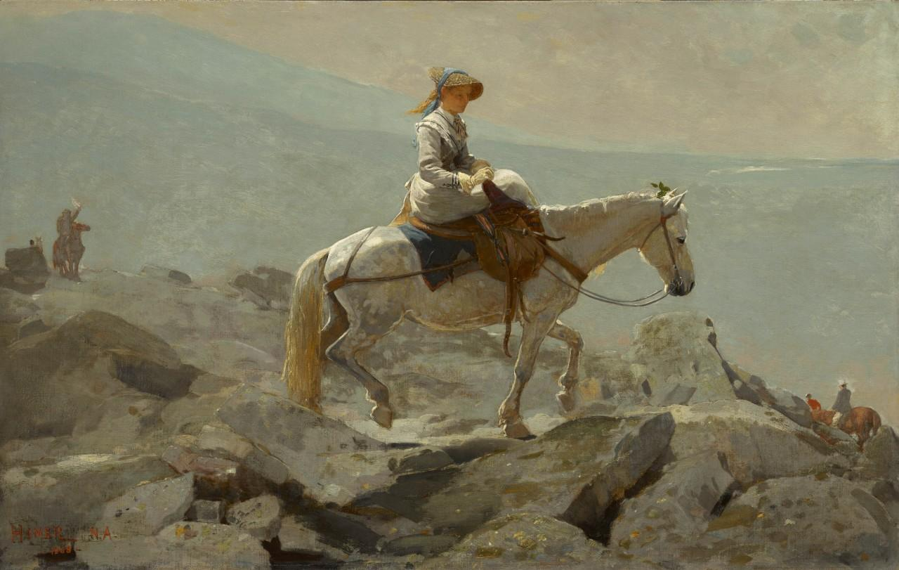 "Winslow Homer, ""The Bridle Path, White Mountains,"" 1868. Oil on canvas. (The Clark, 1955)"