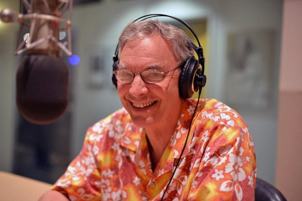 Only A Game host Bill Littlefield. (Alex Kingsbury/WBUR)