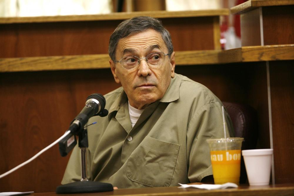"Stephen ""The Rifleman"" Flemmi, a jailed Boston mob leader, testifies Sept. 22, 2008 in a Miami courtroom in the murder trial of former FBI agent John Connolly. (J. Pat Carter/AP)"